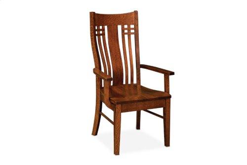 Bradley Arm Chair, Fabric Seat