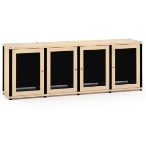 Salamander DesignsSynergy Solution 347, Quad-Width AV Cabinet, Maple with Black Posts