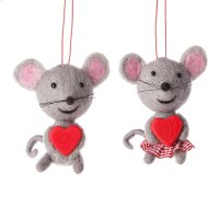 Mouse Ornament (2 asstd). Product Image