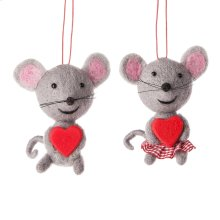 Mouse Ornament (2 asstd).