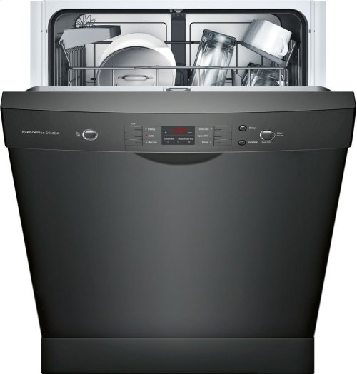 "100 Series 24"" Scoop Handle Dishwasher, SHEM3AY56N, Black"