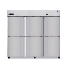 Freezer, Three Section Upright, Half Stainless Door