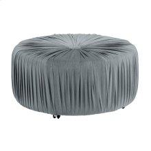 Round Ottoman, Gray