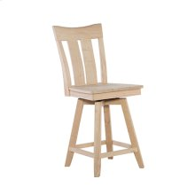 S-132SWB Ava 24'' Swivel Counter Stool