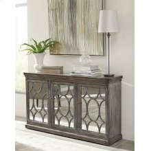 Transitional Antique Grey Accent Cabinet