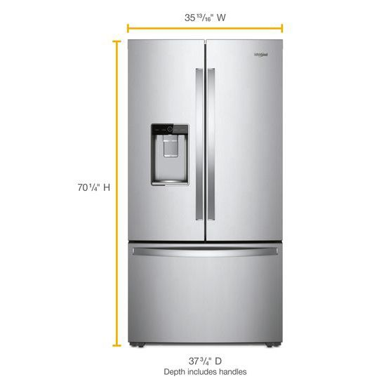 Charmant Whirlpool(r) 36 Inch Wide French Door Within Door Refrigerator With Cold  Space   31 Cu. Ft.   Fingerprint Resistant Stainless Steel