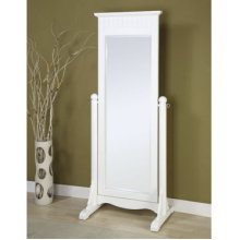 "Color Story ""Pure White"" Cheval Mirror"
