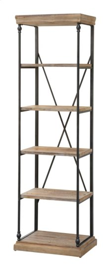 La Salle Metal and Wood Etagere