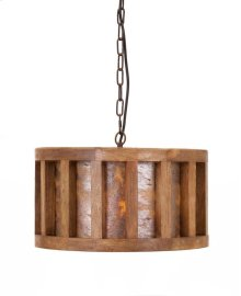 Reagan Wood and Stone Pendant Light