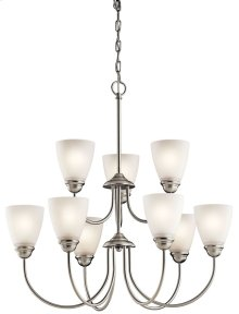 Jolie 9 Light Chandelier Brushed Nickel