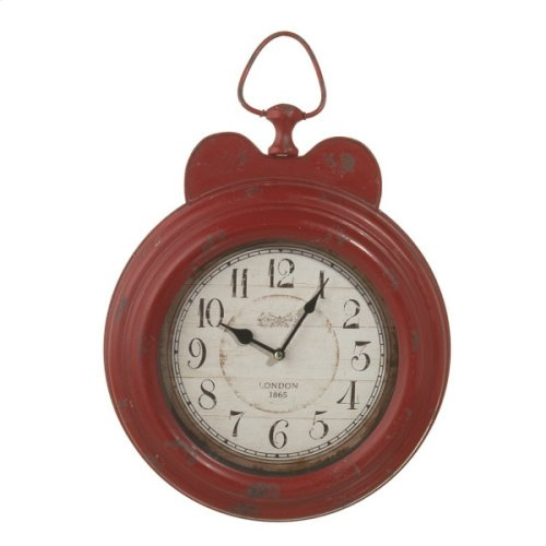 Distressed Red Small Vintage Wall Clock.