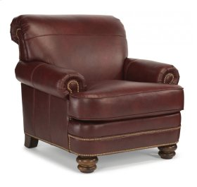 Bay Bridge Leather Chair with Nailhead Trim
