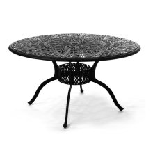 """54"""" Round Inlaid Lazy Susan Table"""