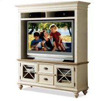 Coventry Console Hutch Weathered Driftwood/Dover White finish