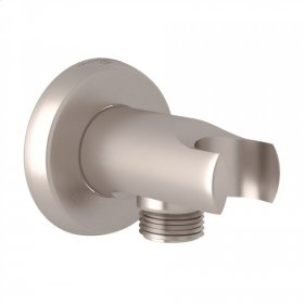 Satin Nickel Perrin & Rowe Holborn Handshower Wall Outlet With Handshower Holder