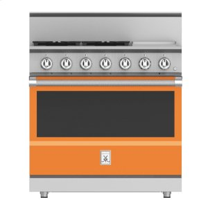 "Hestan36"" 4-Burner All Gas Range with 12"" Griddle - KRG Series - Citra"