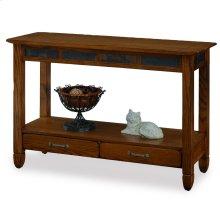 Slatestone Rustic Oak Sofa Table #10933