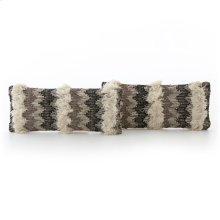 Lumbar Style Multi Fringe Pillow, Set of 2
