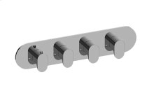 Ametis M-Series Valve Horizontal Trim with Four Handles