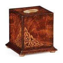 Crotch Mahogany Tissue Box