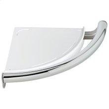 Chrome Contemporary Corner Shelf with Assist Bar