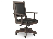 Modern Office Chair with Gas Lift, Tilt, Swivel Base, in Fabric or Bonded Leather