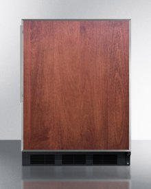 ADA Compliant Built-in Undercounter All-refrigerator for Residential Use, Auto Defrost With Stainless Steel Door Frame for Slide-in Panels and Black Cabinet