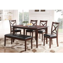 MILO Rectangle Dining Table + 4 Chair + 1 Bench (SET)