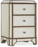 Arabella Mirrored Three-Drawer Nightstand Product Image