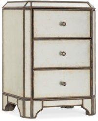 Arabella Mirrored Three-Drawer Nightstand Product Image
