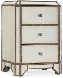 Arabella Mirrored Three-Drawer Nightstand
