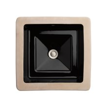 Pop Square Under Counter Bathroom Sink - Black *DISPLAY*
