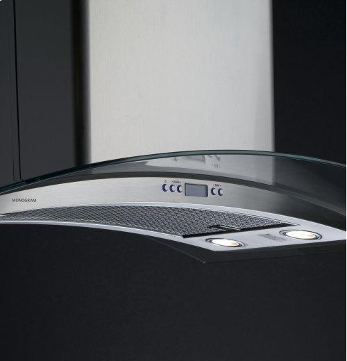 "GE Monogram® 36"" Glass Canopy Hood"