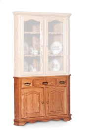 Classic Closed Corner Hutch Base, Medium