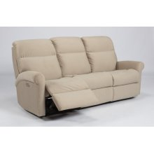 Davis Fabric Power Reclining Sofa with Power Headrests