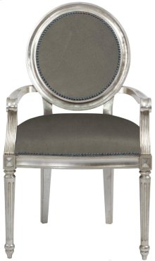 Louis Arm Chair in #44 Antique Nickel