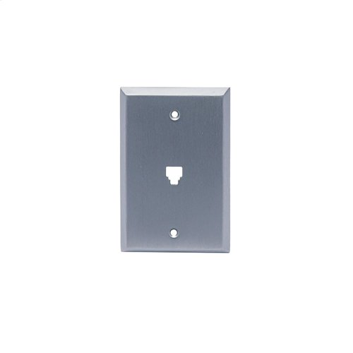 "Single Phone Jack 3 1/4"" center to center screw holes - Matte Dark Statuary Bronze"