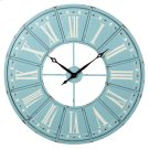 Sky Blue & White Roman Numeral Wall Clock. Product Image