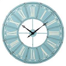 Sky Blue & White Roman Numeral Wall Clock.