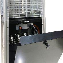 Pyramid Patio Heater, 7' Tall, Propane Flame Glass, 42,000 BTU