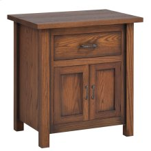 "Mountain Lodge 28"" Nightstand 1 Drawer 2 Doors"