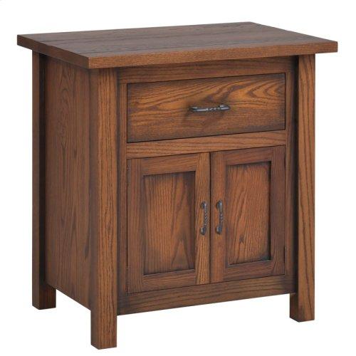 "Mountain Lodge 28"" Nightstand 1 Drawer 2 Doors"