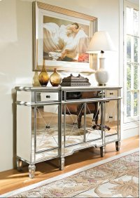 Mirrored 3 Drawer 4 Door Console Product Image