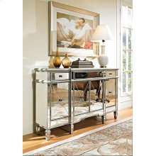 Mirrored 3 Drawer 4 Door Console