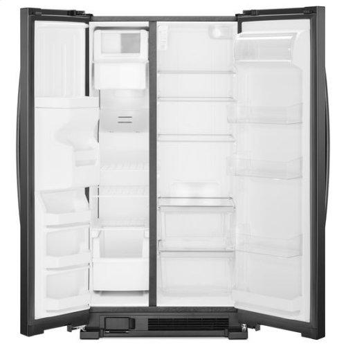 Whirlpool® 36-inch Wide Side-by-Side Refrigerator - 24 cu. ft. - Black