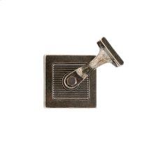Flute Handrail Bracket Silicon Bronze Dark