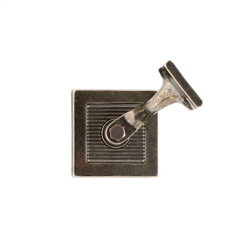 Flute Handrail Bracket Silicon Bronze Brushed