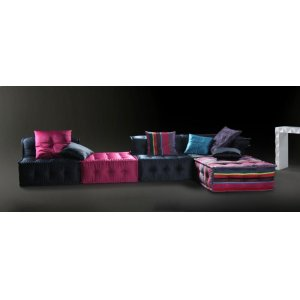 Versus Chloe Modern Fabric Sectional Sofa