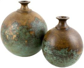 Textured Turquoise Round Jars