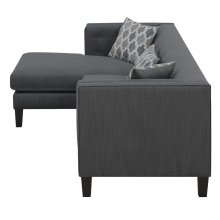 Sawyer Contemporary Dusty Blue Sectional